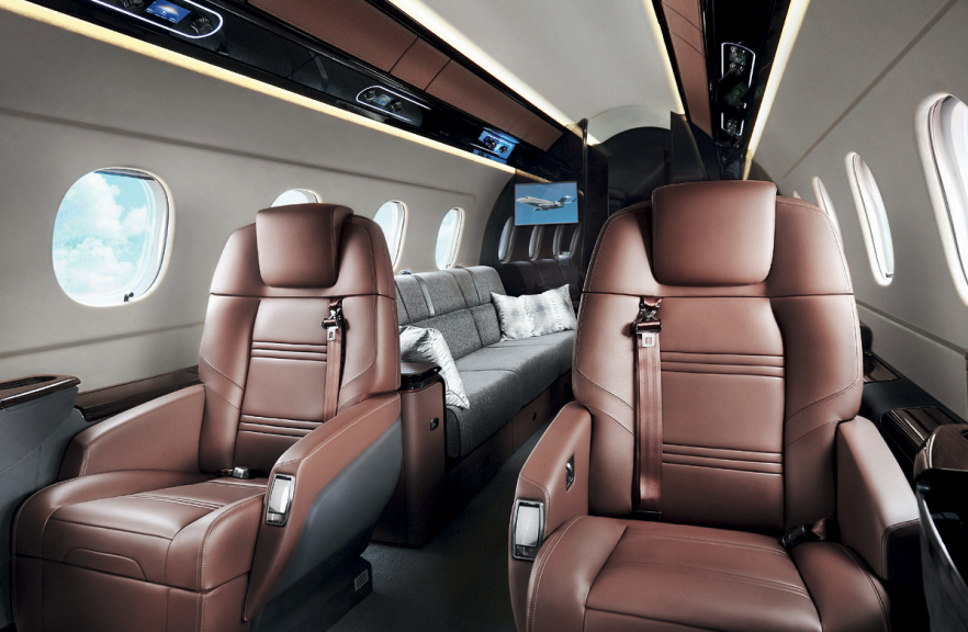 Embraer Praetor 600 Private Jet cabin